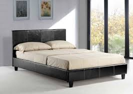 bedroom black painted solid wood japanese bed frame mixed white