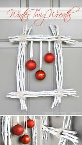 Winter Twig And Ornaments Wreath