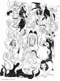 Nice Looking Disney Villains Coloring Book Pages For Kids