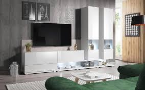 moderne wohnwand einrichtungsidee fürs wohnzimmer otto
