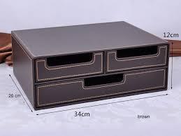 classeur de bureau couche bureau 3 tiroir classeur de bureau en cuir dépôt box