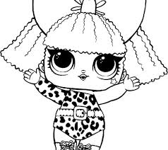 Lol Surprise Dolls Coloring Pages That Are Blank Doll For Kids
