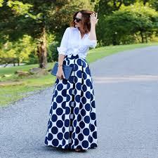 aliexpress com buy fashion vintage polka dots women long skirt