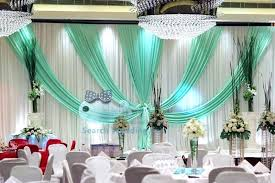 Bulk Wedding Decorations Discount New Top Sale White Backdrop Curtain With Turquoise Color
