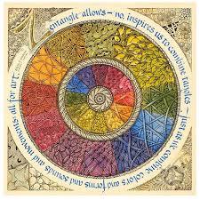 Tangle Wheel Print By Rick Roberts And Maria Thomas Zentangle