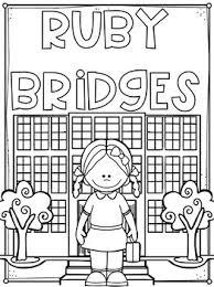 Ruby Bridges Flip Book NO PREP PLUS Colored Poster Student Coloring Page