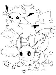 28 Collection Of Pikachu And Eevee Coloring Pages