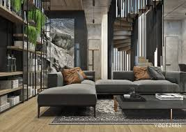 100 Contemporary Interior Designs Residence With A Contrast In Tbilisi On Behance Livingroom House