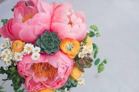 Peony Succulent Bridal Bouquet