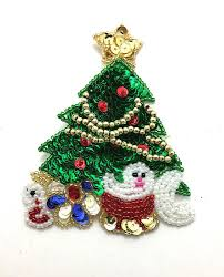 Christmas Tree With Presents Sequin Beaded 4