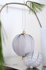 Small Handmade Christmas Ball Ornament Blue White Purple Glow In