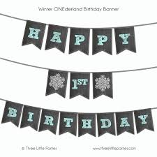 Winter Wonderland Banner Printable Personalize With