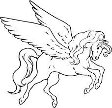 Pegasus Coloring Pages Cute Baby Get Barbie Free