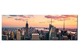 möbel wohnen wandbilder new york skyline stadt nyc