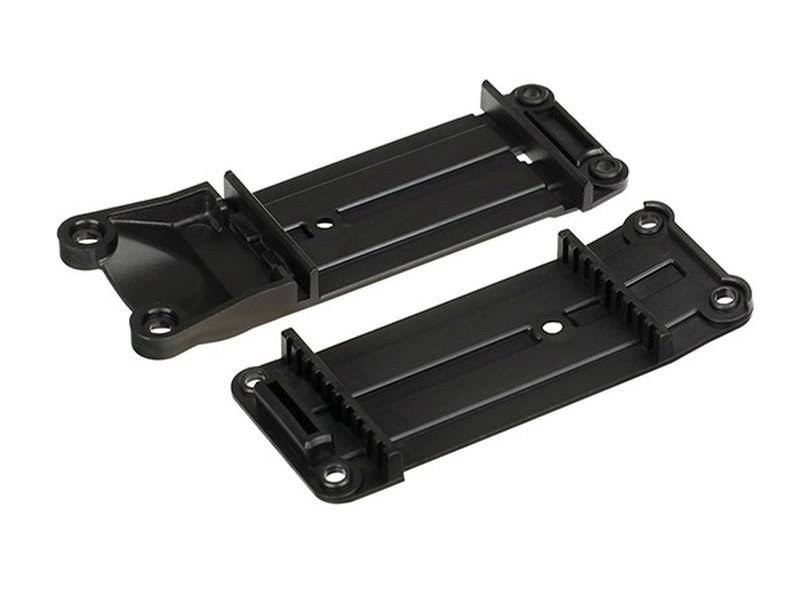 Traxxas 7716 X-Max Tie Front and Rear Bar Mount - Black, 2ct