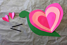 Heart Snail Craft For Kids Valentine Art Project Crafty Morning