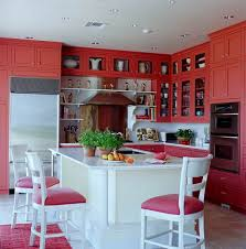 Coral Color Interior Design by Colorful Kitchens With Charisma Traditional Home