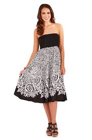 fashion trends casual strapless summer dresses combined with