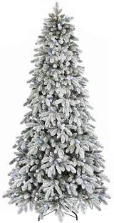 Christmas Tree Stands At Menards by Enchanted Forest 7 5 U0027 Prelit Led Flocked Aspen Artificial