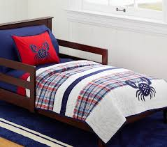 crab madras toddler quilt pottery barn kids