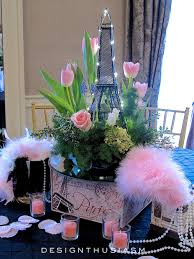 Paris Themed Table Centerpieces April In For A Spring Party
