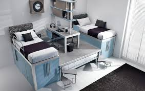 Bedroom Beautiful Double Loft Beds For Teen With Stairs And