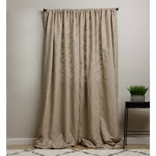 Smocked Burlap Curtain Panels by Lined Burlap Curtains Curtain Design Ideas