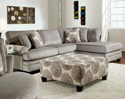 American Freight 7 Piece Living Room Set by Gray Soft Microfiber Couch Groovy Smoke Two Piece Sectional