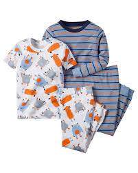 Amazon Com 4 Piece Baby by Amazon Com Carter U0027s Baby Boy U0027s Tough Guys Need Sleep Too Pajama