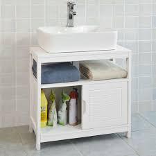 sobuy waschbeckenunterschrank badmöbel waschtisch badschrank frg128 w