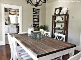 Diy Rustic Dining Room Sets Have Table Pads White Chairs Under Chandelier Above Wood Floor Around Grey Painted Wall Decor With Racks