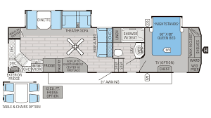 Travel Trailer Floor Plans Rear Kitchen by Incredible Two Bedroom Rv Floor Plans And Flooring