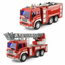 100 Fire Truck Power Wheels Friction Driven Toy Fighter Rescue Christmas