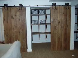Incomparable Double Sliding Closet Door Barn Rustic Style For Walk In Design