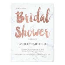 Bridal Shower Qoutes by Rose Gold Bridal Shower Invitations U0026 Announcements Zazzle