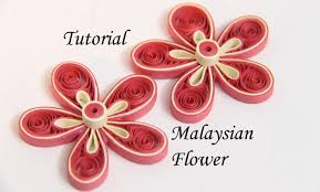 How To Make A Simple Flower With Paper Tutorial For Quilled Malaysian