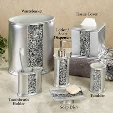Crackle Glass Bathroom Set by Crackle Glass Bathroom Accessories Fittings Silver Sparkle Mosaic