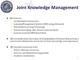 Jko Help Desk Number by Knowledge Management In The Department Of Defense