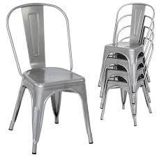 100 Modern Metal Chair Best Choice Products Set Of 4 Stacking Industrial Dining S Silver