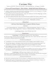 Sample Resume Hair Stylist Cosmetologist Responsibilities