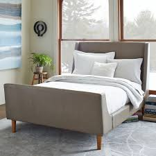 Bedding Endearing Upholstered Sleigh Bed Poster Beds Queen Size