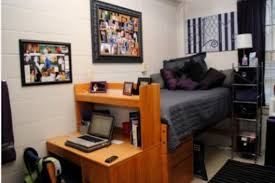 Bedroom Minimalist Dorm Room For Guys With Single Bed Built In