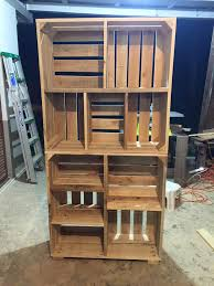 Wood Crate Shelf Diy by Adorable Pallets Wood Crate Shelves Wood Crate Shelves Crate