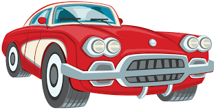Red Vintage Car Clipart