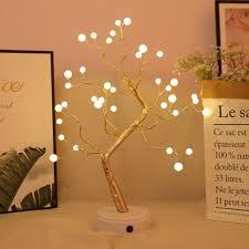 diy bonsai baum licht pearl light touch switch led leuchten für schlafzimmer desktop weihnachtsfeier innendekoration nachtlicht h02