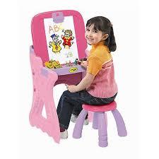 Easel Desk With Stool by Crayola Play U0027n Fold 2 In 1 Art Studio Easel Walmart Com