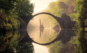 100 Water Bridge Germany Kromlau During All Four Seasons Grafiktrafik