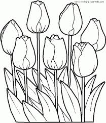 Garden Flowers Coloring Pages