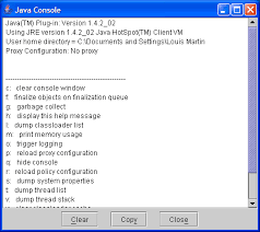For Details About The Java Console See Sun J2se 142 Docs Guide Plugin Developer