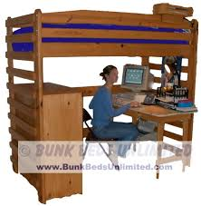 loft bed with desk woodworking bunk bed with desk